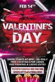Valentine Day Celebration PSD Flyer Template