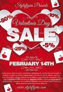 Valentines Day Sale PSD Flyer Template