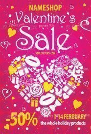 Valentine's Sale PSD Flyer Template