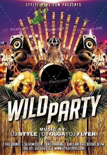 Wild Party PSD Flyer Template