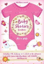 Babyshower PSD Flyer Template