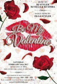 Be My Valentine PSD Flyer Template