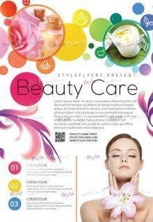 Beauty Care PSD Flyer Template