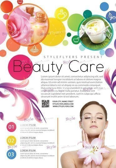 Beauty Care PSD Flyer Template