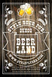 Beer Land Day PSD Flyer Template