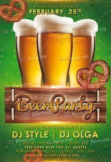 Beer Party PSD Flyer Template (1)