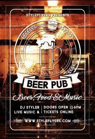 Beer Pub PSD Flyer Template