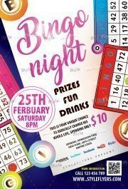 Bingo Night PSD Flyer Template