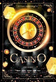 Casino PSD Flyer Template