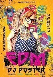 EDM Dj Poster PSD Flyer Template