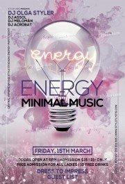 ENERGY Minimal Music PSD Flyer Template