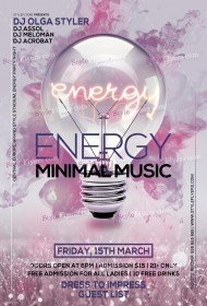 ENERGY Minimal Music PSD Flyer Template