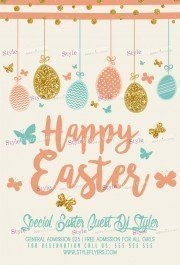 Easter Poster PSD Flyer Template