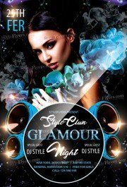 Glamour Night PSD Flyer Template
