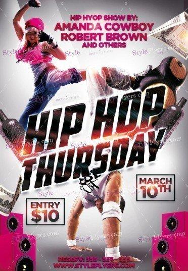 Hip Hop Thursday PSD Flyer Template