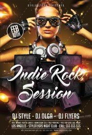 Indie Rock Session PSD Flyer Template