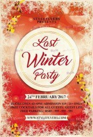 Last Winter Party PSD Flyer Template