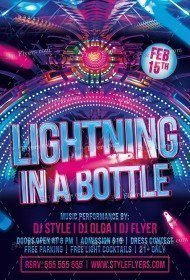 Lightning In A Bottle PSD Flyer Template