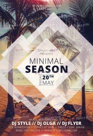 Minimal Season PSD Flyer Template
