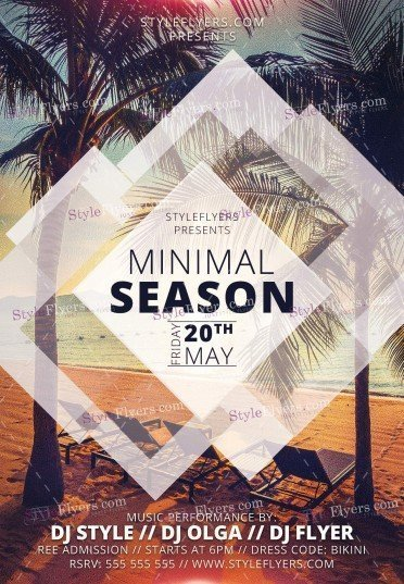 Minimal Season PSD Flyer Template