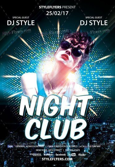 Night Club Party PSD Flyer Template