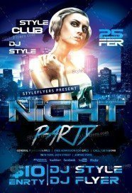 Free NightClub Flyer PSD Templates Download - Styleflyers