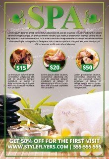 Spa PSD Flyer Template