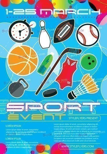 sport event psd flyer template 17628 styleflyers