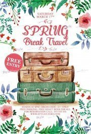 Spring Brake Travel PSD Flyer Template