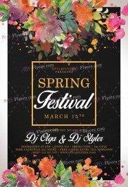 Spring Festival PSD Flyer Template