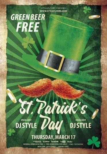 St Patrick's Day 2017 PSD Flyer Template