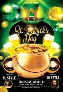 St-Patrick's Day 2017 PSD Flyer Template