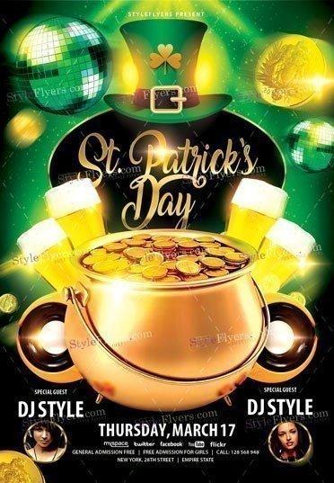 St-Patrick's Day 2017 PSD Flyer Template