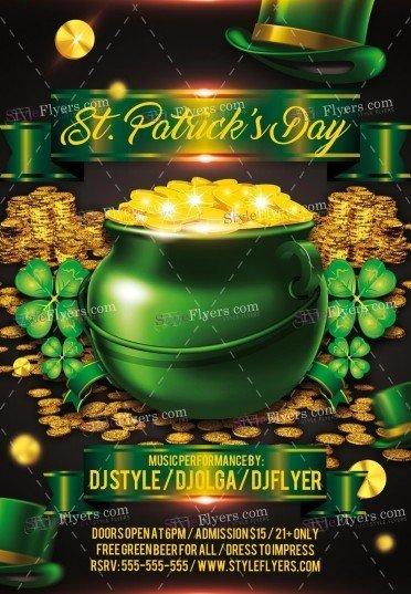 St Patricks Day PSD Flyer Template