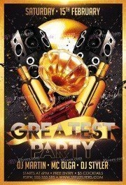 The Greatest Party PSD Flyer Template