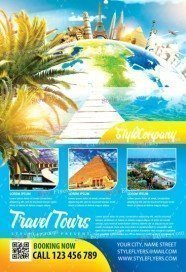 Travel Tours PSD Flyer Template