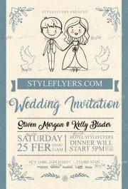 Wedding Invitation PSD Flyer Template
