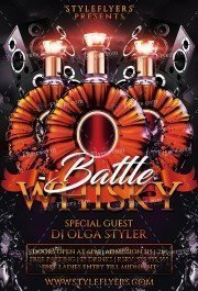 Whisky Battle PSD Flyer Template