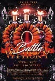 Whisky Battle PSD Flyer Template
