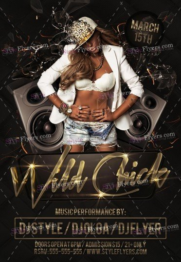 Wild Chick PSD Flyer Template