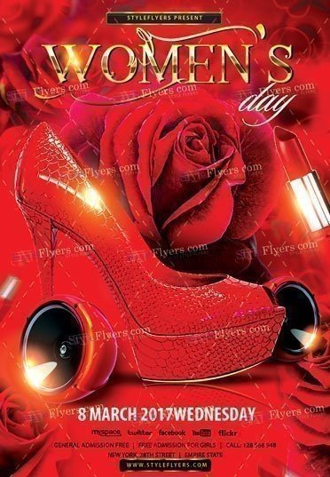 Women's Day Party PSD Flyer Template