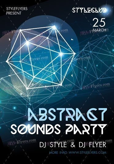Abstract Sounds Party PSD Flyer Template
