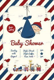 Baby Shower PSD Flyer Template