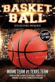 Basketball Match PSD Flyer Template