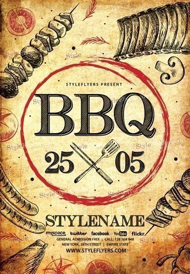 Bbq Psd Flyer Template   Styleflyers
