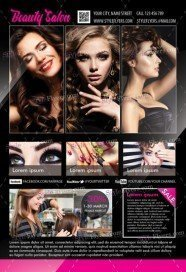 Beauty Salon PSD Flyer Template
