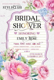 Bridal Shower PSD Flyer Template