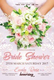 Bride Shower PSD Flyer Template