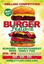 Burger Festival PSD Flyer Template