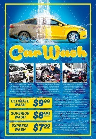 Car Wash Flyers Jeppefmtk - Free car invoice template online hockey stores
